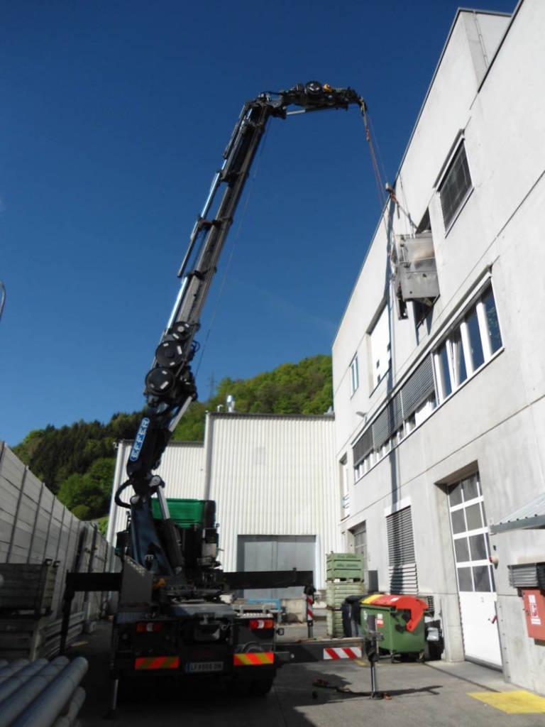 Демонтаж на оборудване от завод в Австрия. Изкарване