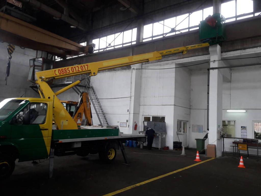 Ремонт на подкранов релсов път в ремонтно хале