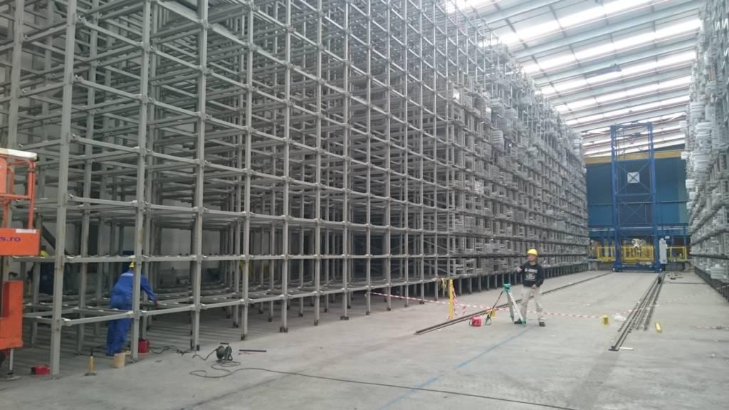 Монтаж на метална кострукция и релсов път за автоматичен склад