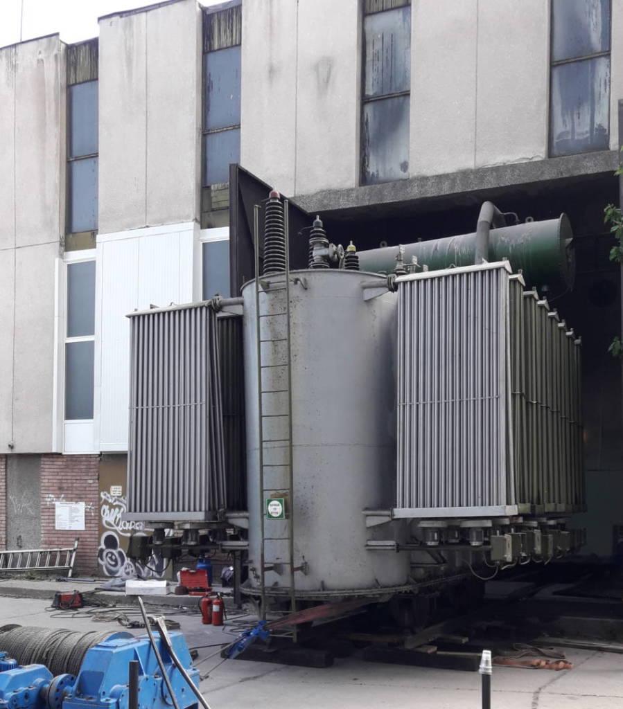 Изкраване на силов трансформатор по такелажжен способ